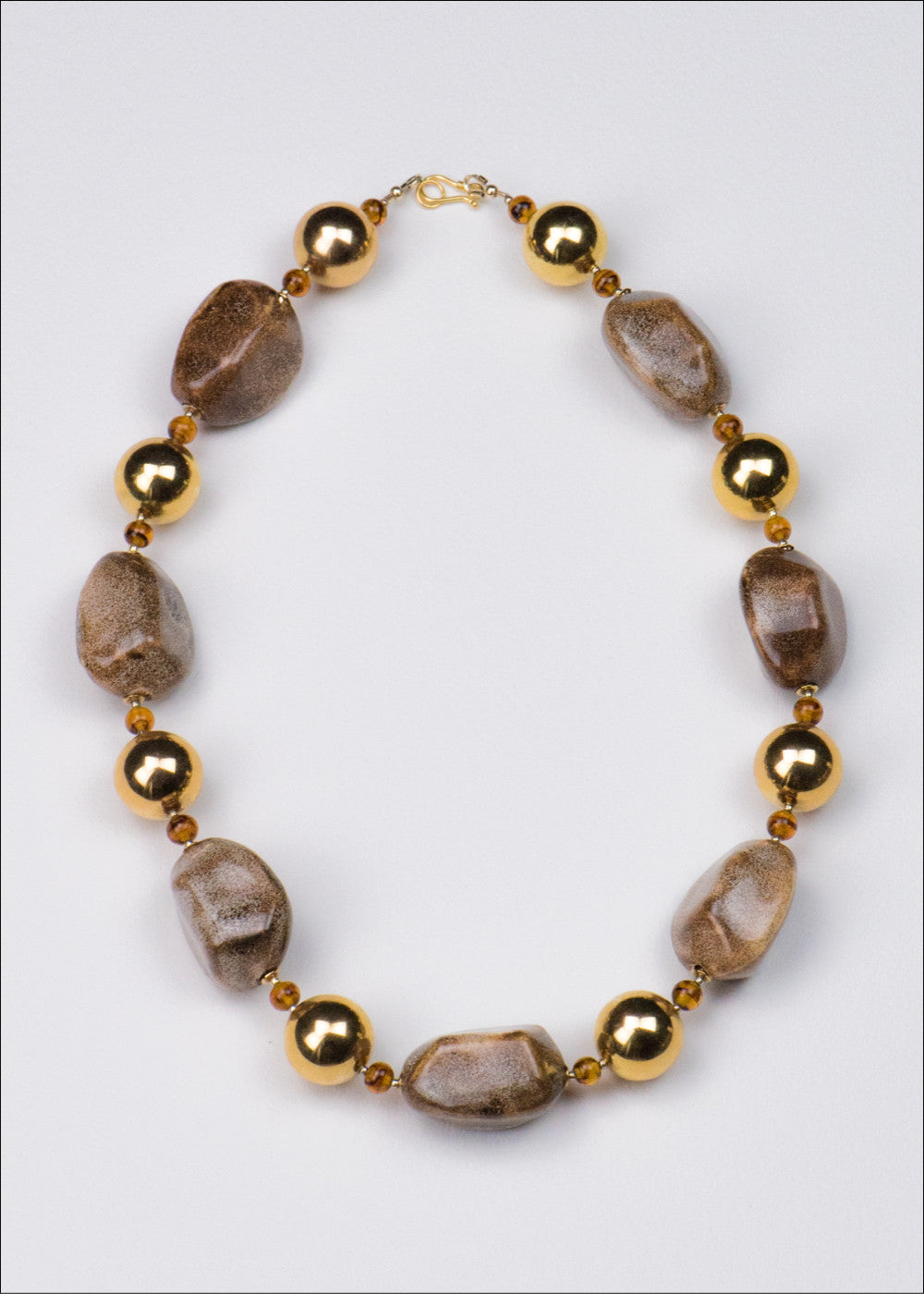Bold Gold and Stone Necklace