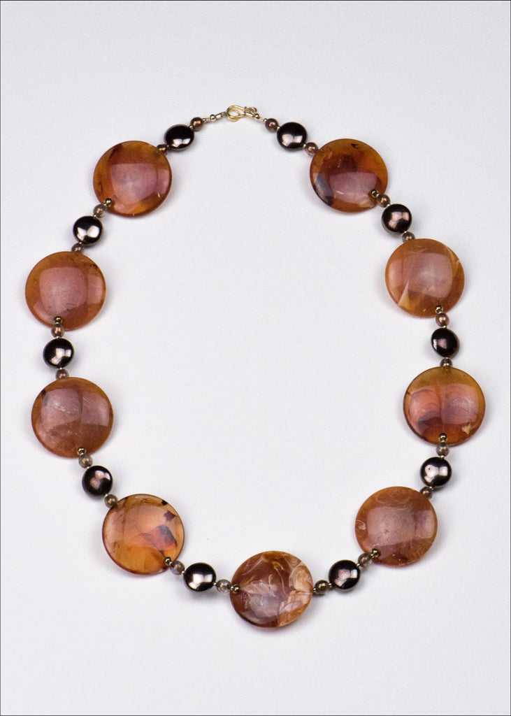 Bold, Faux Tortoise Shell Necklace