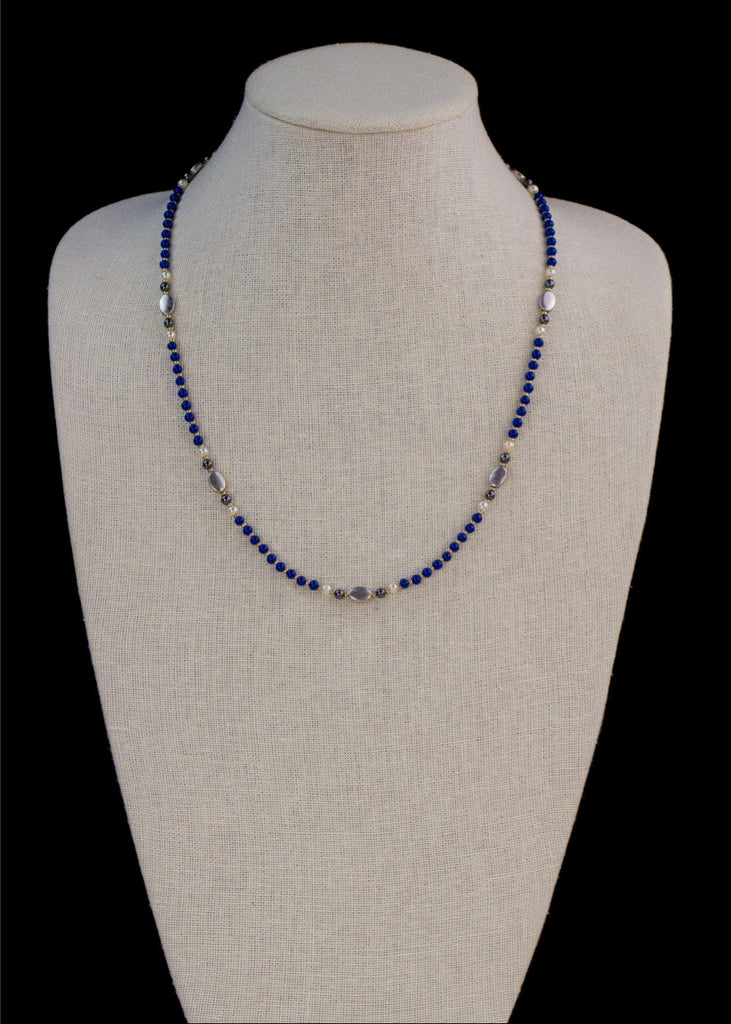 Blue Magnetite Necklace