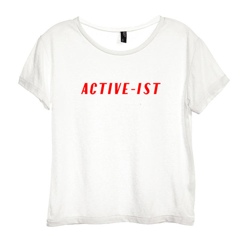 ACTIVE-IST [DISTRESSED WOMEN'S 'BABY TEE']