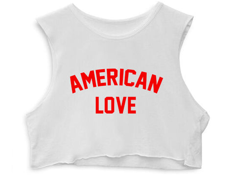 AMERICAN LOVE [WOMEN'S CROP TANK]