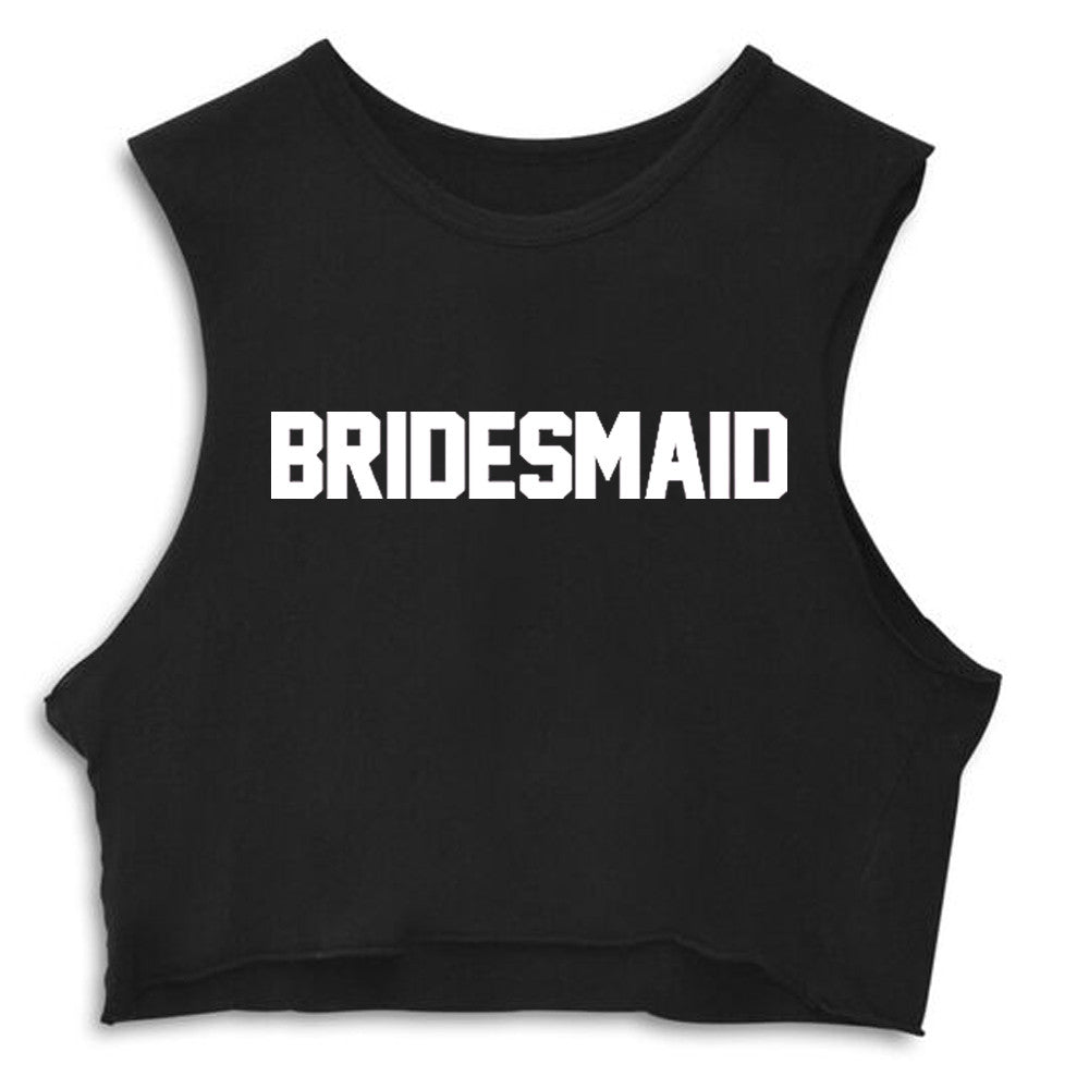BRIDESMAID [CROP MUSCLE TANK]