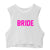 BRIDE // PINK TEXT  [CROP MUSCLE TANK]