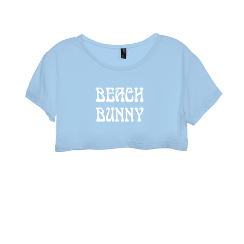 BEACH BUNNY [WOMEN'S CROP DISTRESSED BABY TEE]