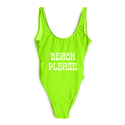 BEACH PLEASE // NEW FONT [SWIMSUIT]