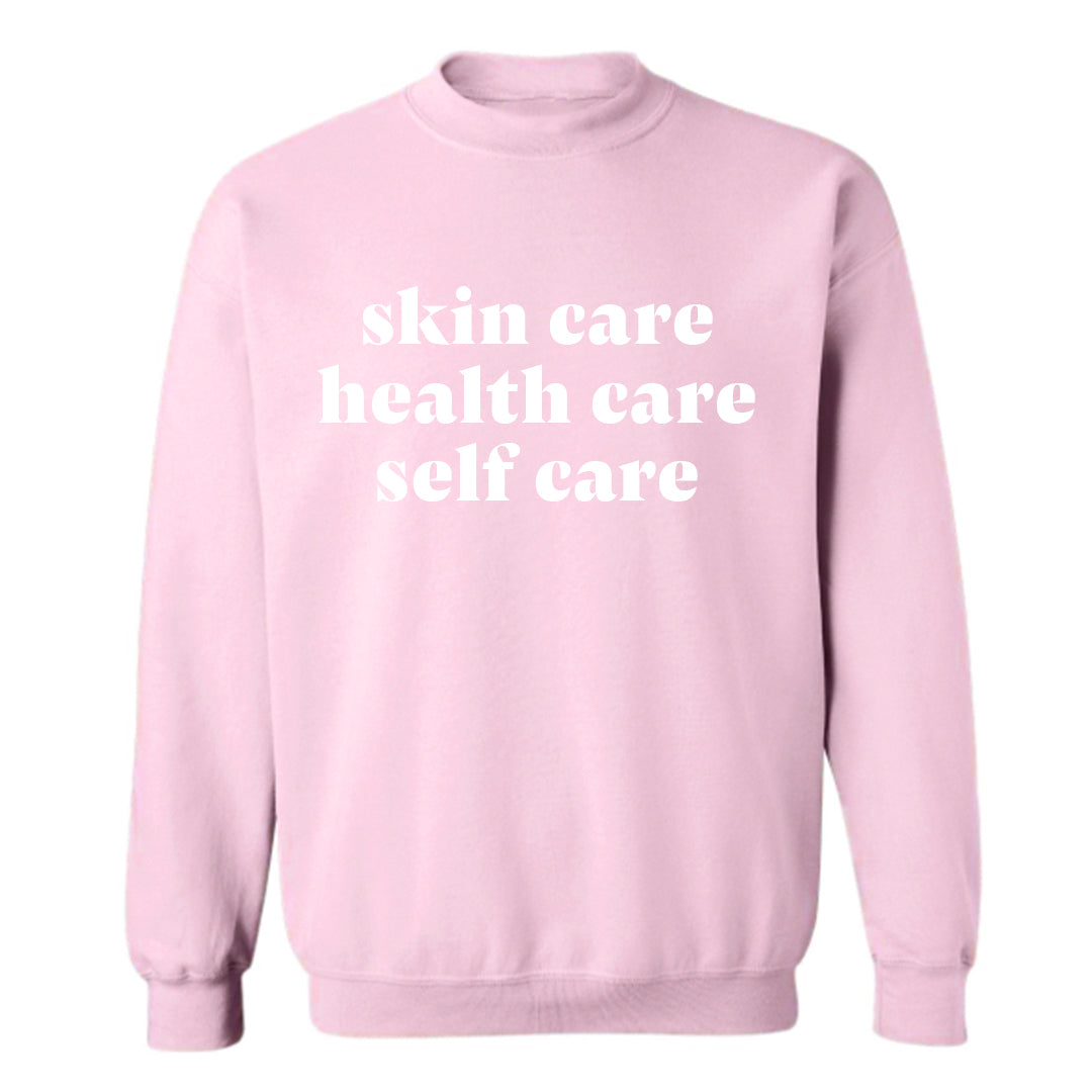 SKIN CARE HEALTH CARE SELF CARE [UNISEX CREWNECK SWEATSHIRT]