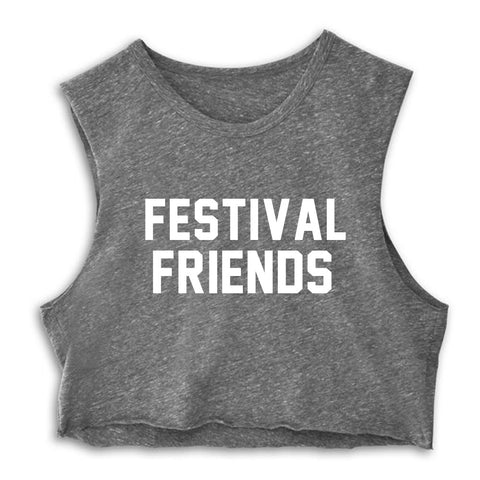 FESTIVAL FRIENDS  [CROP MUSCLE TANK]