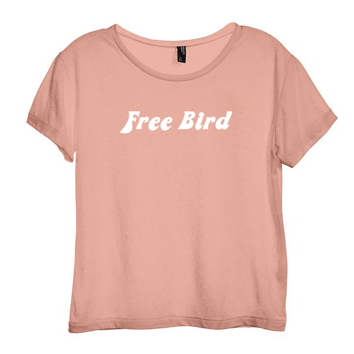 FREE BIRD [DISTRESSED WOMEN'S 'BABY TEE']
