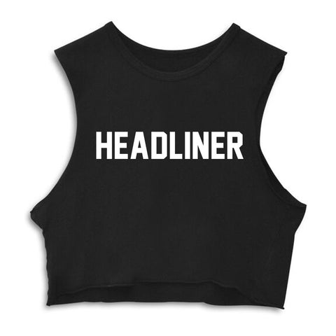 HEADLINER  [CROP MUSCLE TANK]