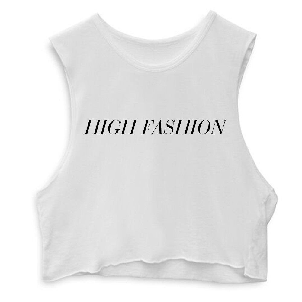 HIGH FASHION  [CROP MUSCLE TANK]