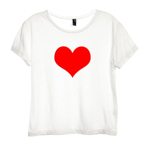 HEART SYMBOL [DISTRESSED WOMEN'S 'BABY TEE']