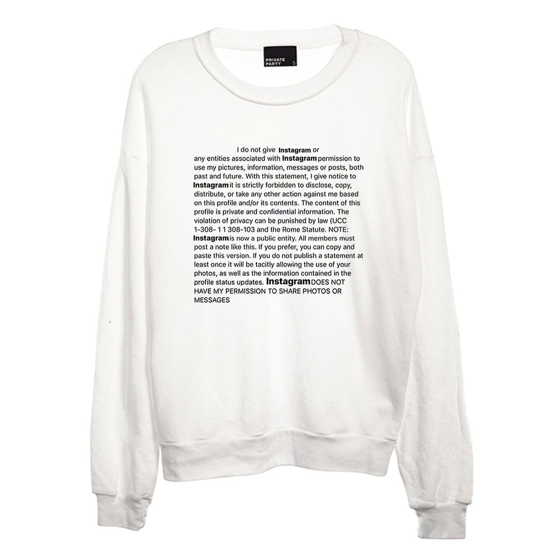 NO PERMISSION [UNISEX CREWNECK SWEATSHIRT]