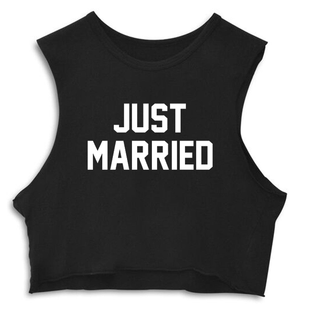 JUST MARRIED [CROP MUSCLE TANK]