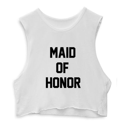MAID OF HONOR  [CROP MUSCLE TANK]