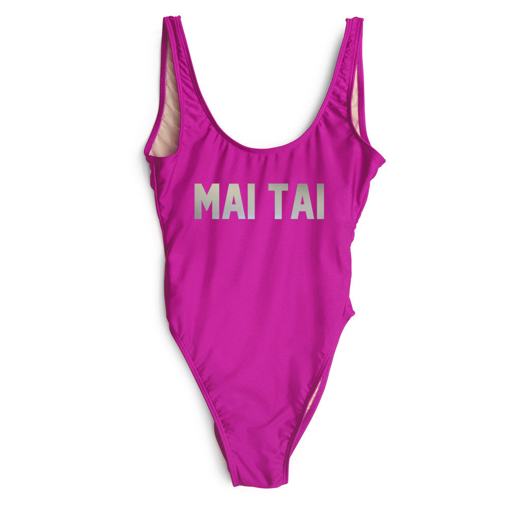 MAI TAI [SWIMSUIT // SILVER TEXT]