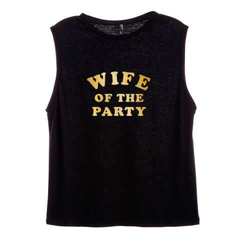 WIFE OF THE PARTY [WOMEN'S MUSCLE TANK]