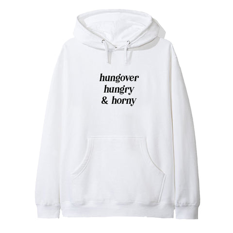 HUNGOVER HUNGRY & HORNY [HOODIE]