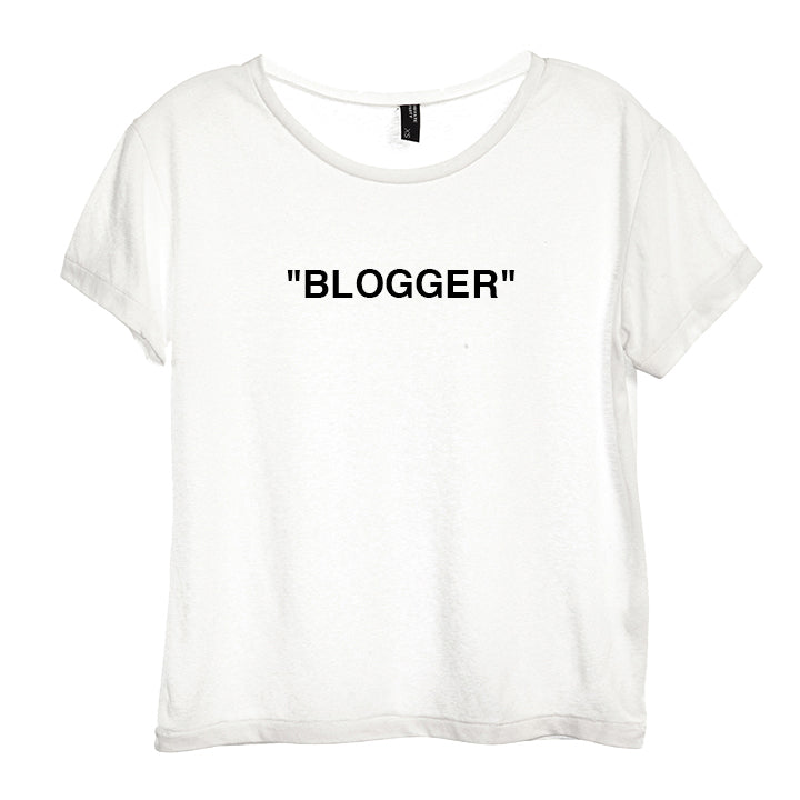"""BLOGGER"" [DISTRESSED WOMEN'S TEE]"