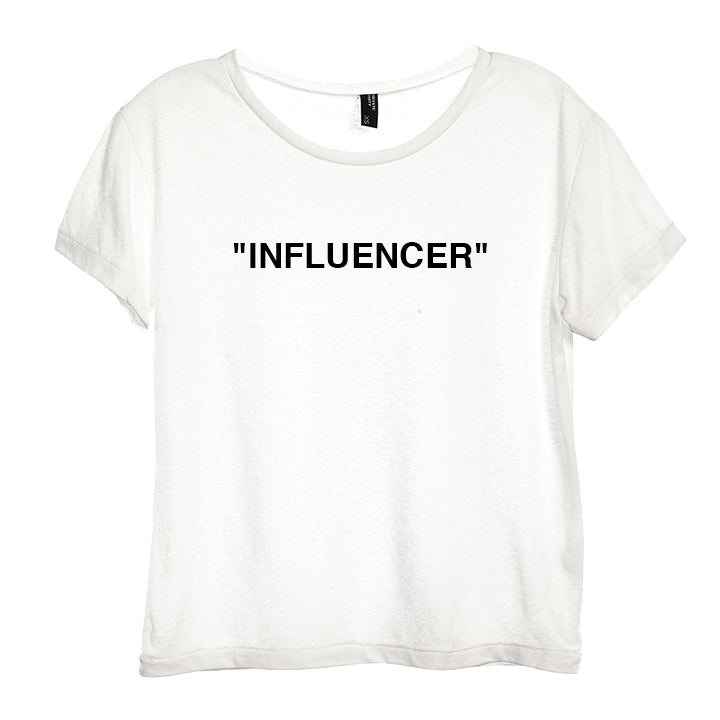 """INFLUENCER"" [DISTRESSED WOMEN'S TEE]"