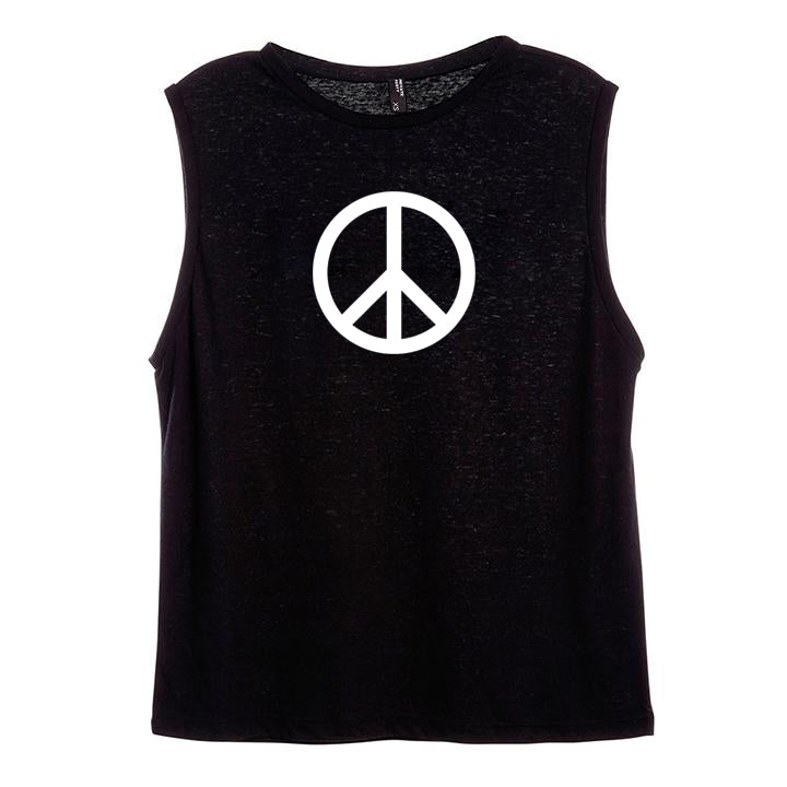 PEACE SYMBOL [WOMEN'S MUSCLE TANK]