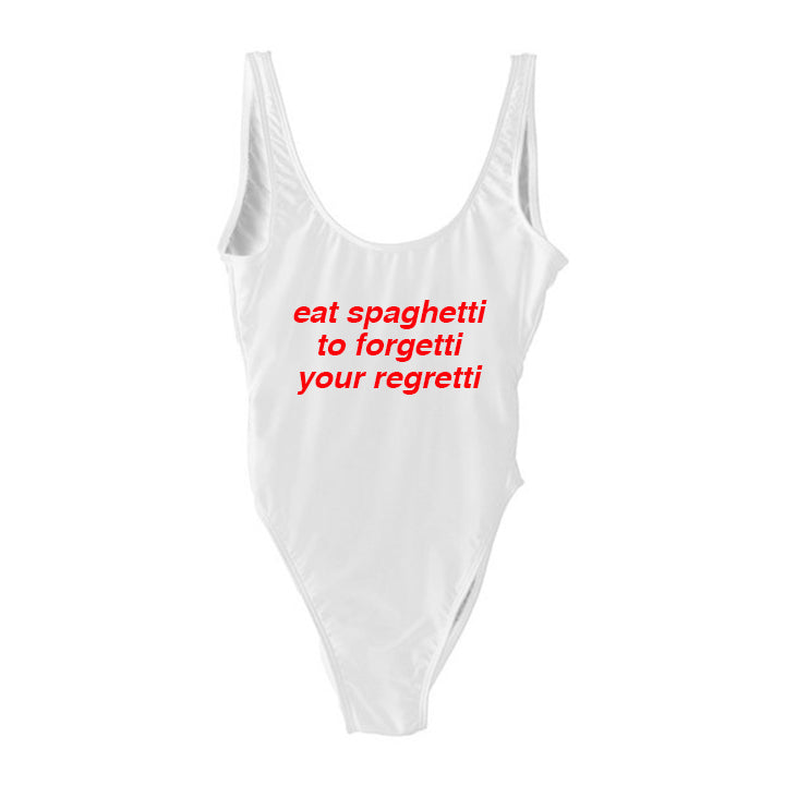 eat spaghetti to forgetti your regretti  [SWIMSUIT]