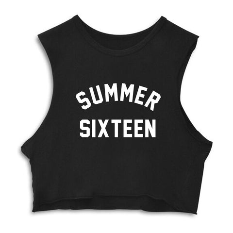 SUMMER SIXTEEN [CROP MUSCLE TANK]