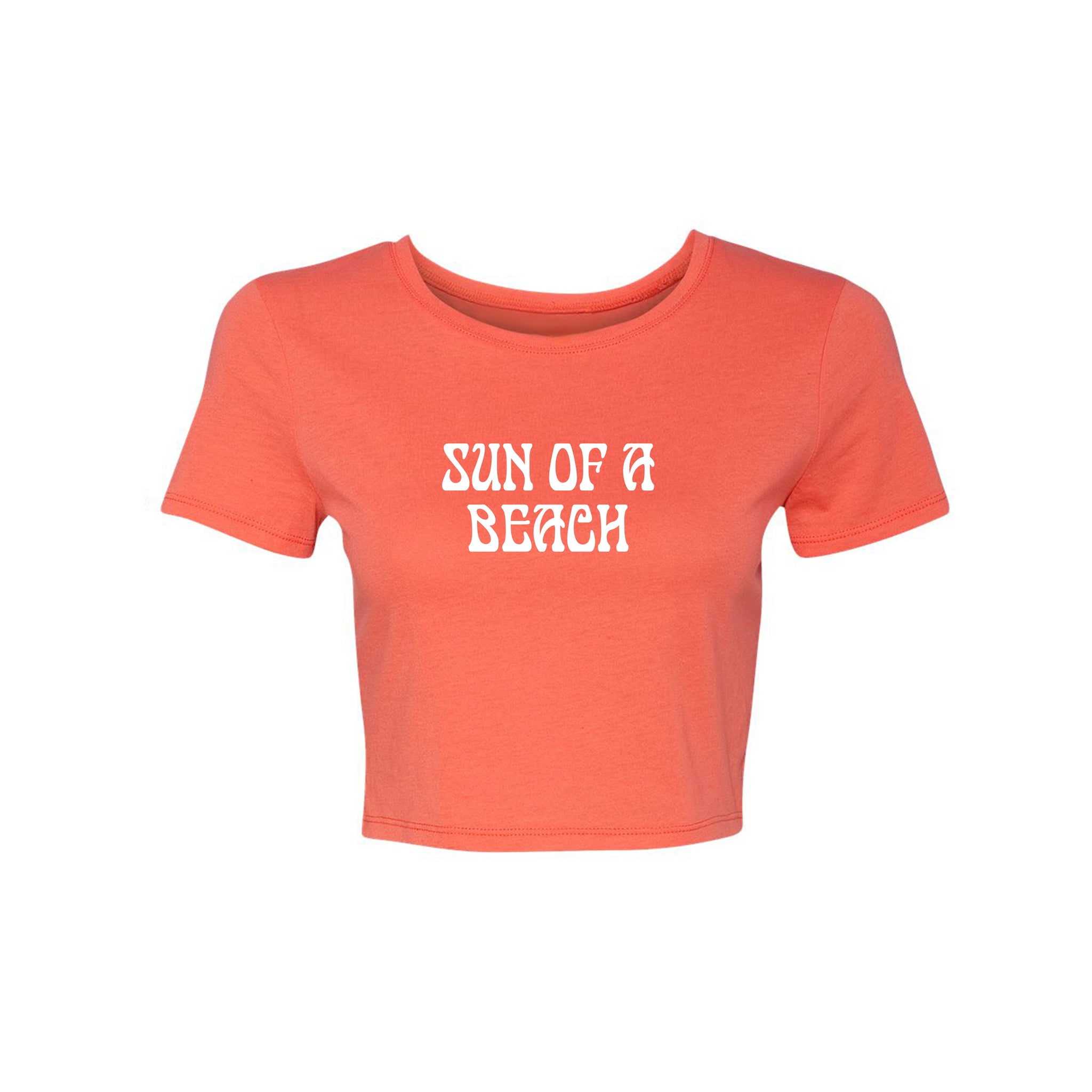 SUN OF A BEACH [WOMEN'S CROP TEE]