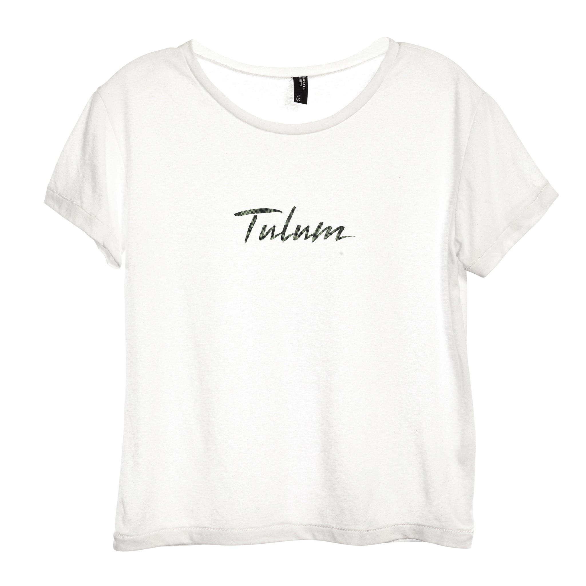TULUM W/ SNAKESKIN TEXT [DISTRESSED WOMEN'S 'BABY TEE']