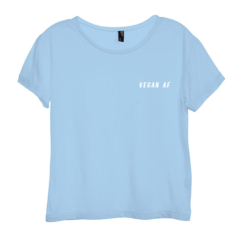 VEGAN AF [DISTRESSED WOMEN'S 'BABY TEE']