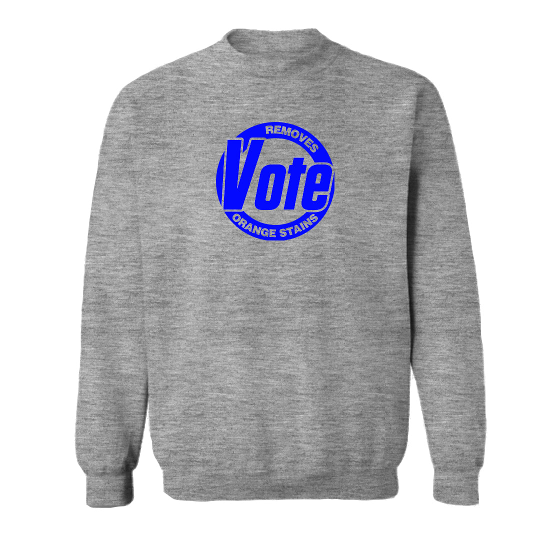 VOTE REMOVES ORANGE STAINS [UNISEX CREWNECK SWEATSHIRT]