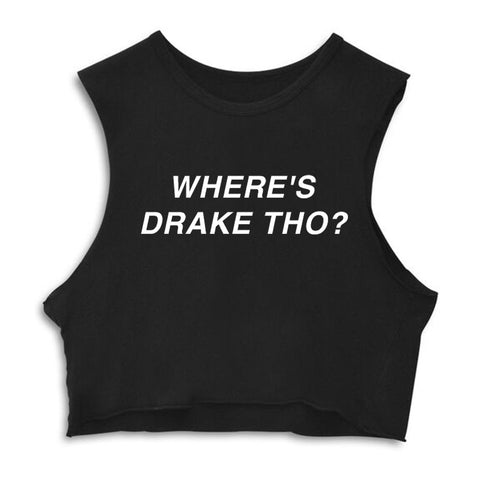 WHERE'S DRAKE THO?  [CROP MUSCLE TANK]