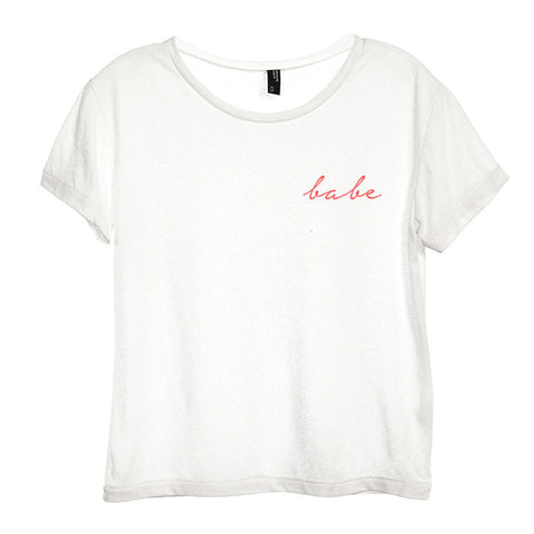 BABE [DISTRESSED WOMEN'S 'BABY TEE']