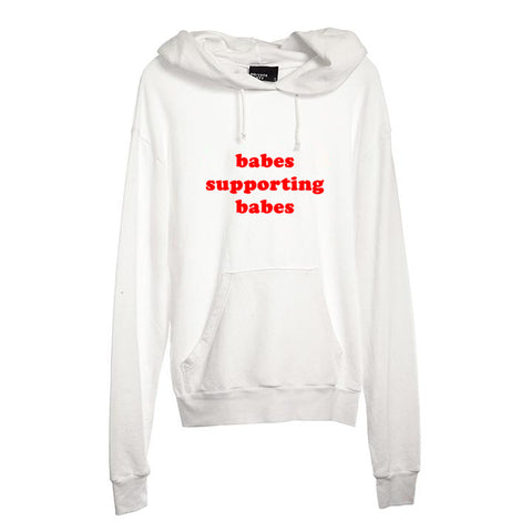 BABES SUPPORTING BABES [UNISEX HOODIE]
