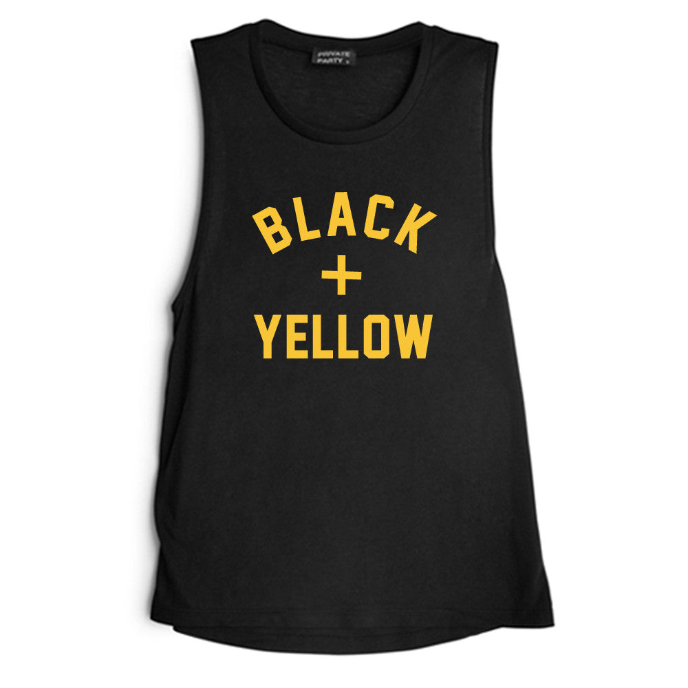 BLACK + YELLOW [MUSCLE TANK]