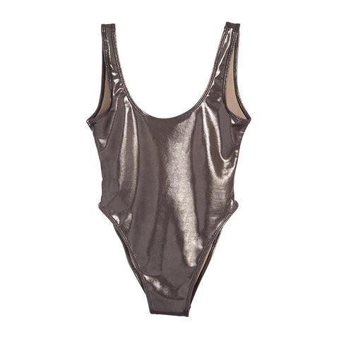 METALLIC DARK SILVER [BLANK SWIMSUIT]