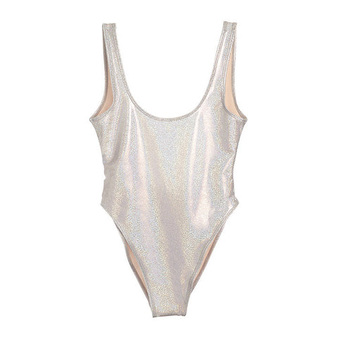 METALLIC IRIDESCENT WHITE [BLANK SWIMSUIT]