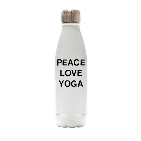 PEACE LOVE YOGA [WATER BOTTLE]