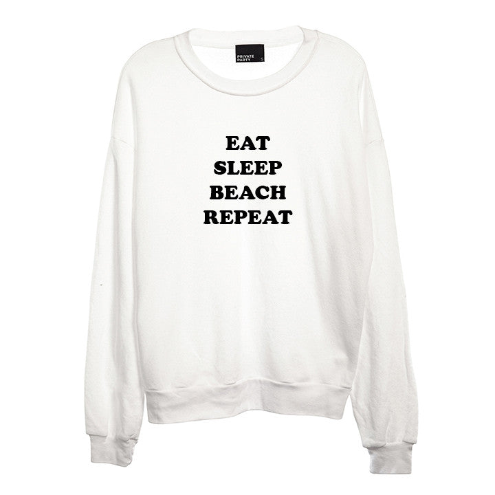 EAT SLEEP BEACH REPEAT [UNISEX CREWNECK SWEATSHIRT]