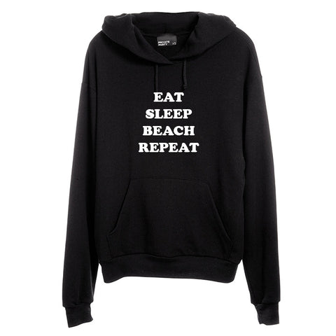 EAT SLEEP BEACH REPEAT [UNISEX HOODIE]