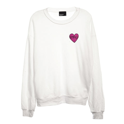 FEMINIST HEART PATCH [UNISEX CREWNECK SWEATSHIRT]