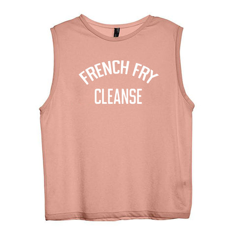 FRENCH FRY CLEANSE [WOMEN'S MUSCLE TANK]