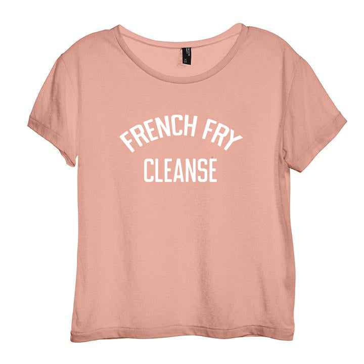 FRENCH FRY CLEANSE [DISTRESSED WOMEN'S 'BABY TEE']