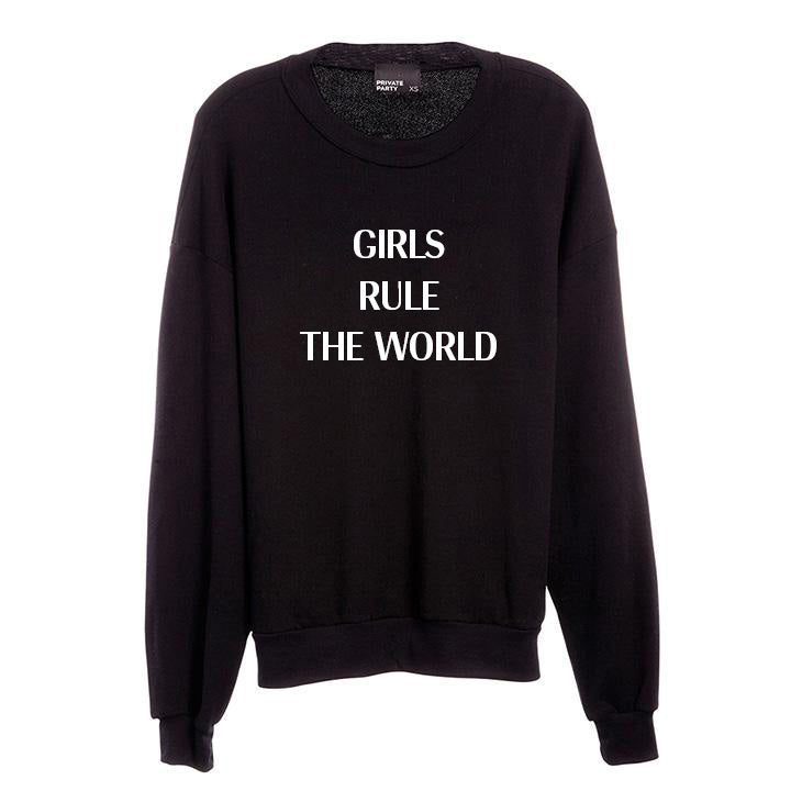 GIRLS RULE THE WORLD [UNISEX CREWNECK SWEATSHIRT]