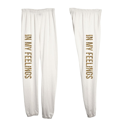 IN MY FEELINGS W/ CHEETAH TEXT [WOMEN'S SWEATPANTS]
