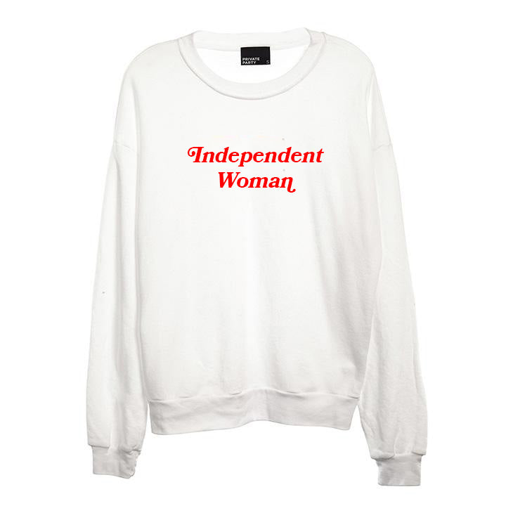 INDEPENDENT WOMAN [UNISEX CREWNECK SWEATSHIRT]