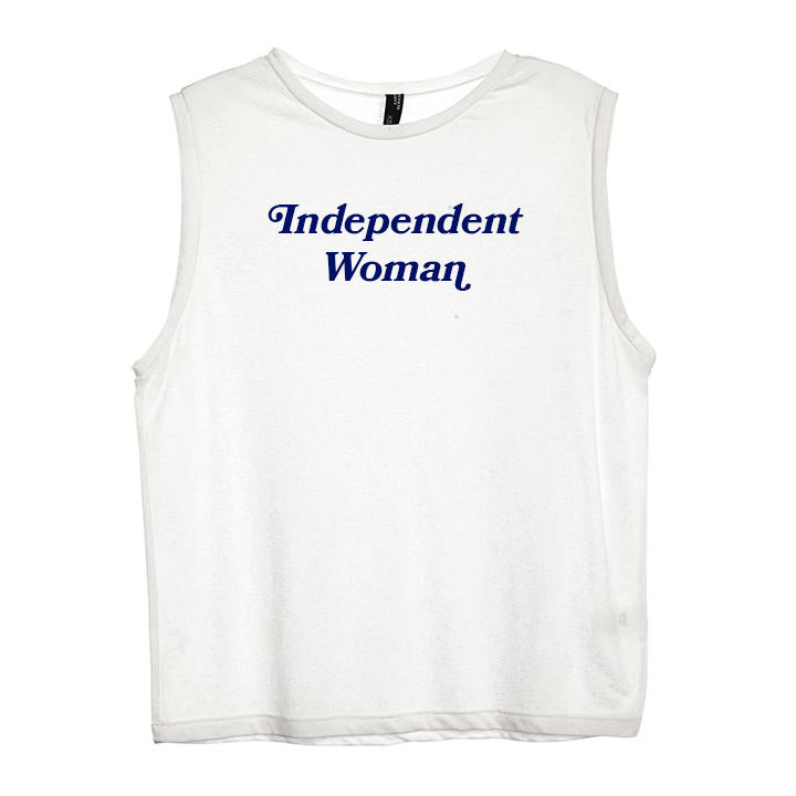 INDEPENDENT WOMAN [WOMEN'S MUSCLE TANK]
