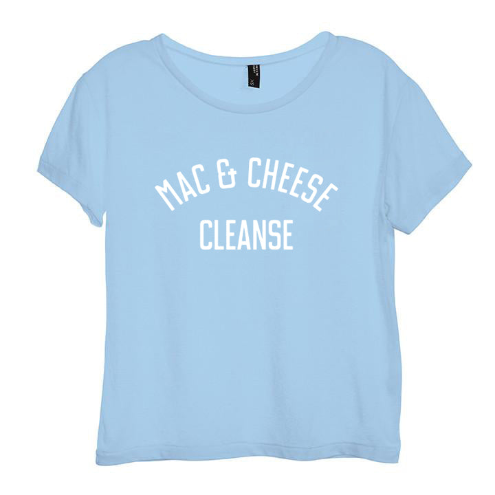 MAC & CHEESE CLEASE [DISTRESSED WOMEN'S 'BABY TEE']