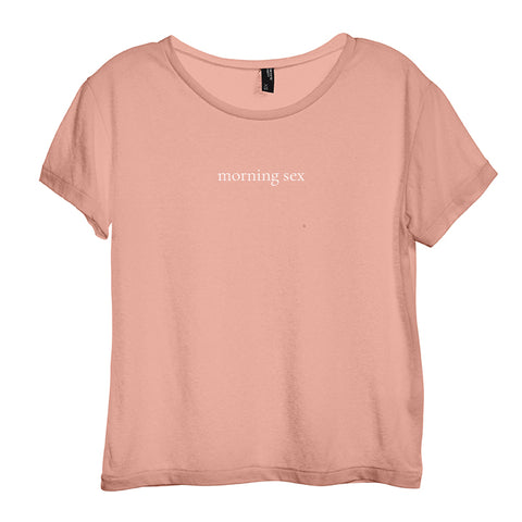 MORNING SEX [DISTRESSED WOMEN'S 'BABY TEE']