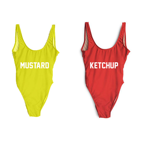 KETCHUP + MUSTARD [2 PACK DISCOUNT SWIMSUITS]