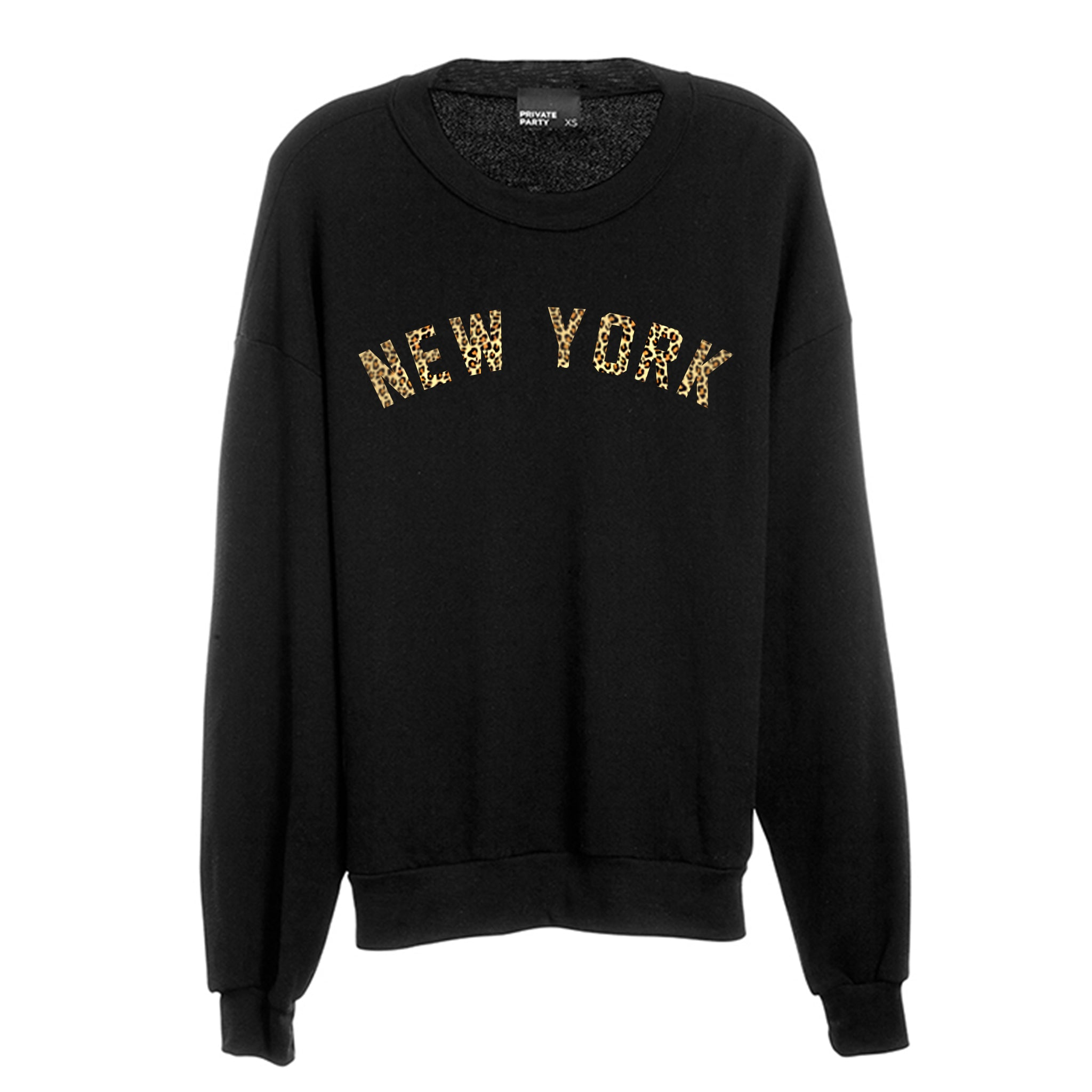 NEW YORK W/ CHEETAH TEXT  [CREWNECK SWEATSHIRT]
